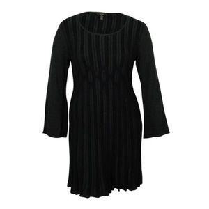 Style & co. Charcoal ribbed sweater dress PS